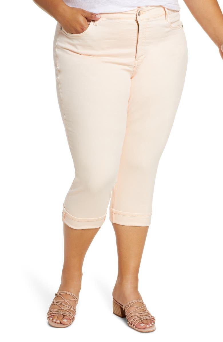 NYDJ Marilyn Cuff Crop Straight Leg Jeans, Main, color, 682