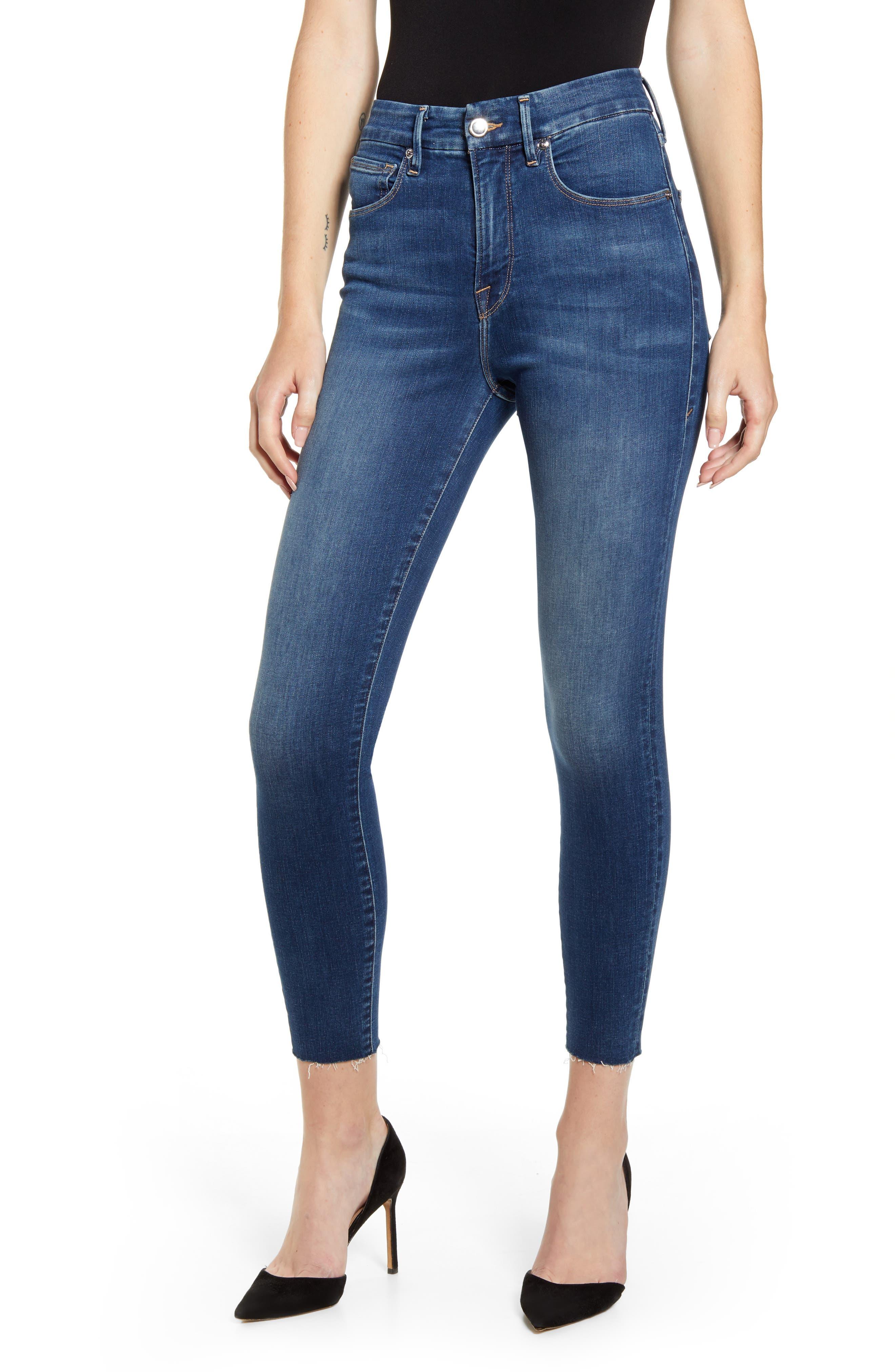 Good Waist High Waist Raw Hem Ankle Skinny Jeans