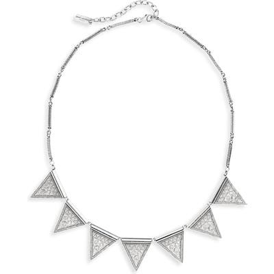 Saint Laurent Textured Triangle Frontal Necklace