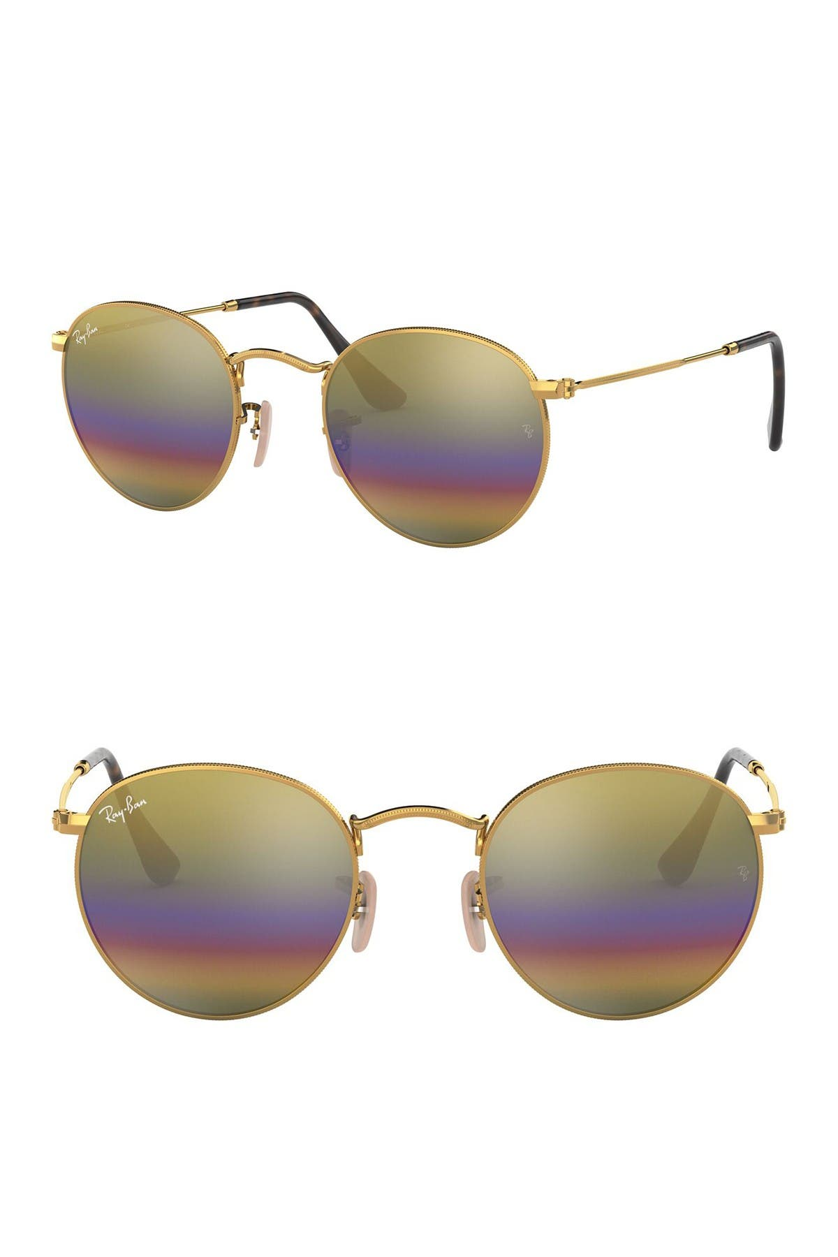 Image of Ray-Ban 53mm Round  Sunglasses