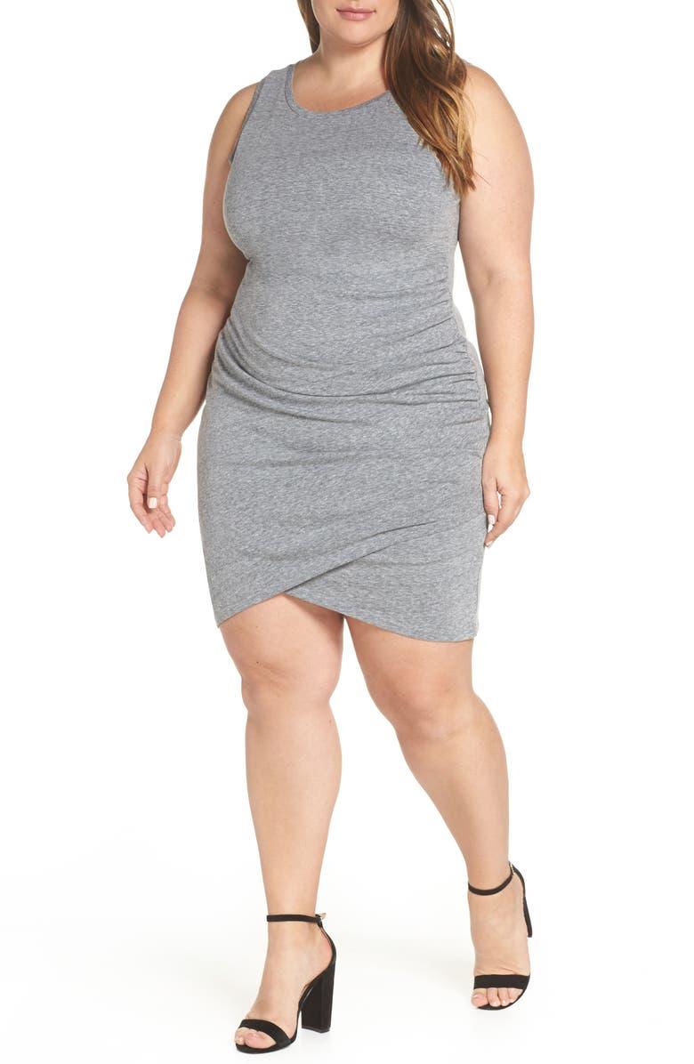 32c11ab9ab Ruched Sheath Dress, Main, color, GREY CLOUDY HEATHER