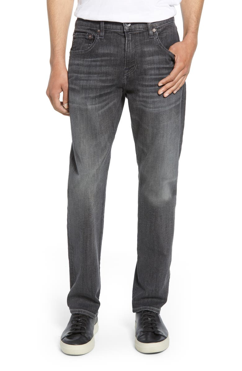 7 FOR ALL MANKIND<SUP>®</SUP> The Straight Slim Straight Leg Jeans, Main, color, VICIOUS GREY