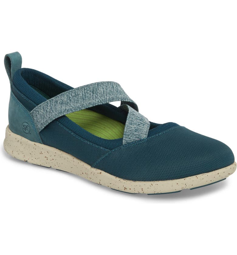 SUPERFEET Palisade Sneaker, Main, color, BALSAM BLUE LEATHER