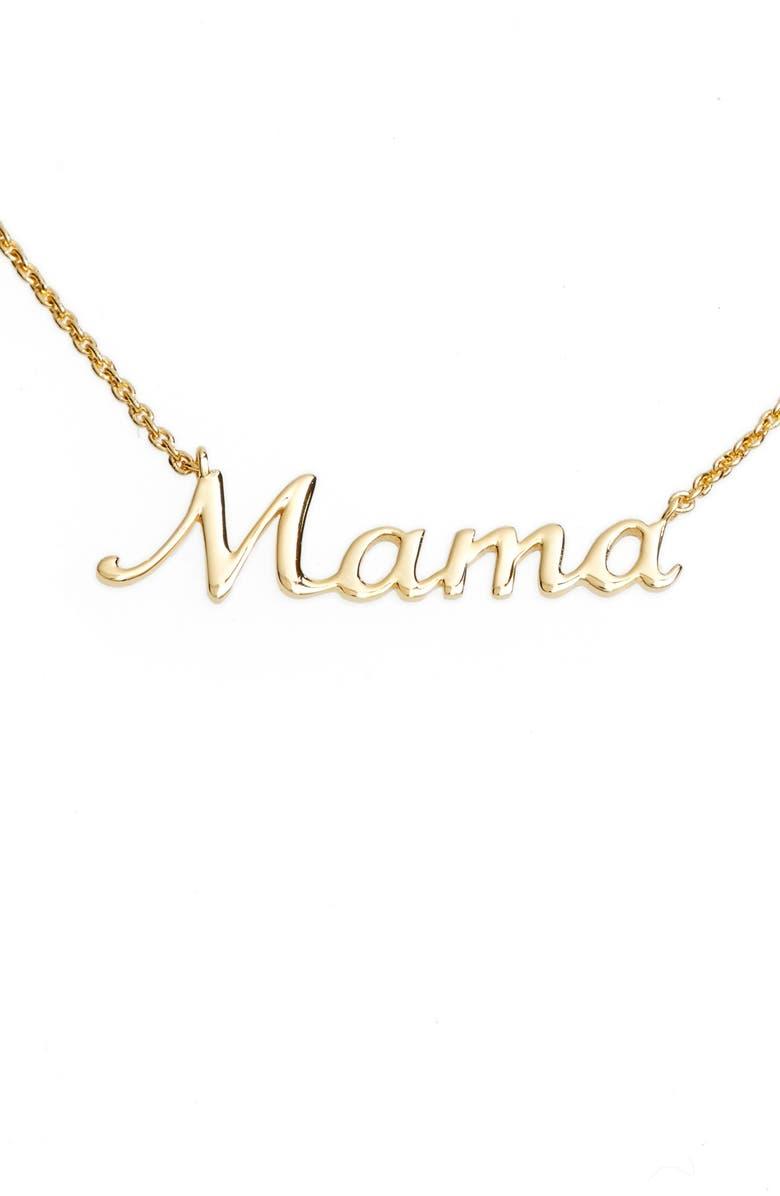 ARGENTO VIVO STERLING SILVER Argento Vivo Mama Pendant Necklace, Main, color, GOLD