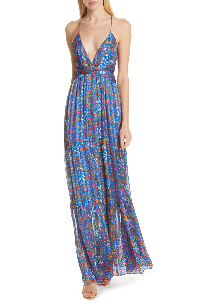 BA&SH Rosy Maxi Dress, Main, color, BLEU
