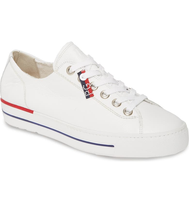 PAUL GREEN Carly Low Top Sneaker, Main, color, WHITE LEATHER