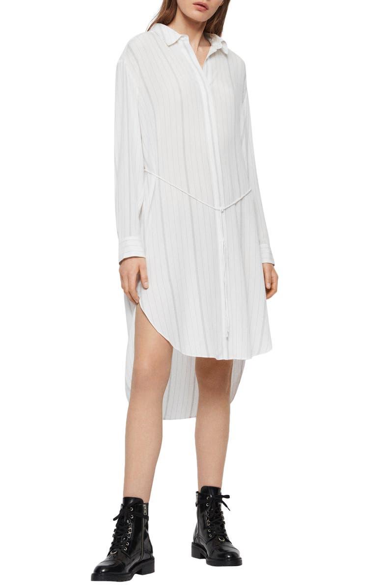 ALLSAINTS Hana Long Sleeve Shirtdress, Main, color, 172
