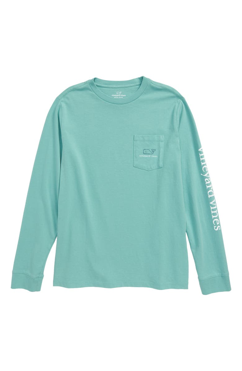 VINEYARD VINES Tw-Tone Vintage Whale Pocket T-Shirt, Main, color, GREENWICH GREEN