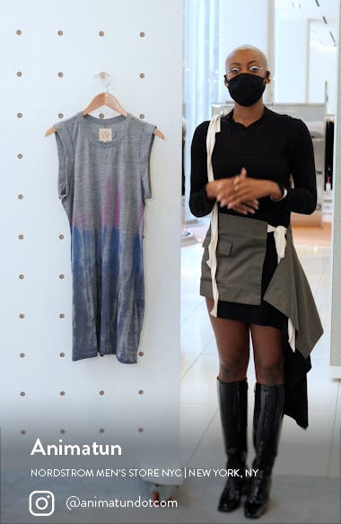 Jersey Rolled Armhole Minidress, sales video thumbnail
