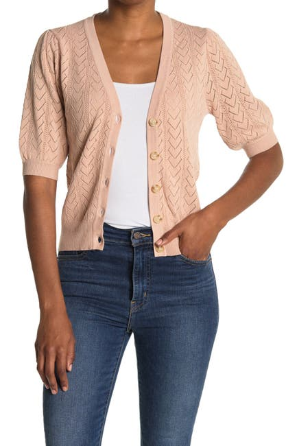 Image of Heartloom Fitted Short Sleeve Cardigan
