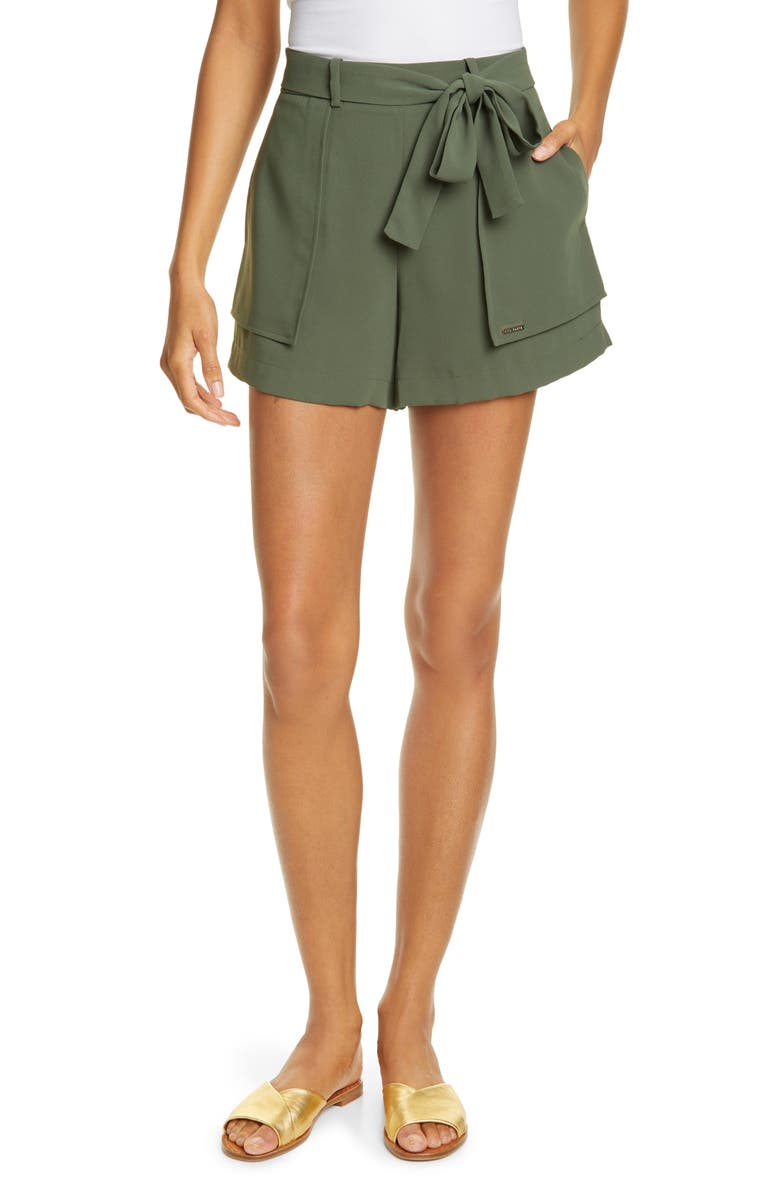 TED BAKER LONDON Mitty Tie-Waist Shorts, Main, color, 250