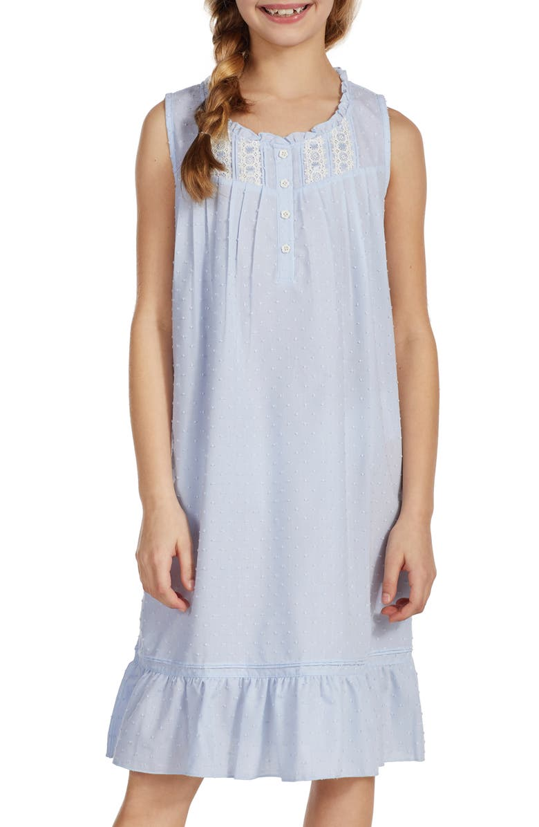 EILEEN WEST Embroidered Nightgown, Main, color, 450