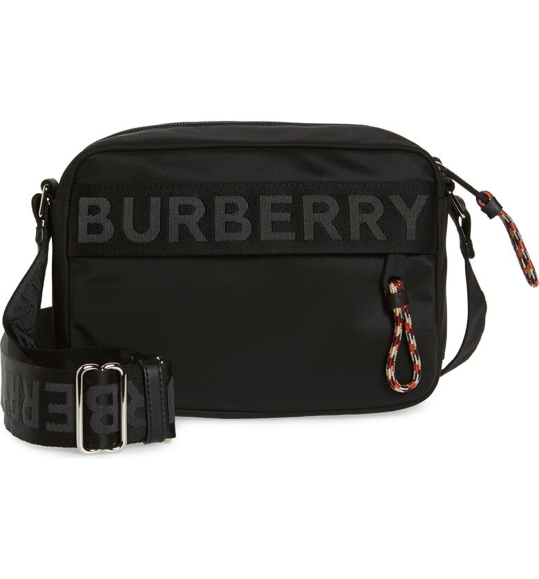 BURBERRY Paddy Nylon Bag, Main, color, BLACK