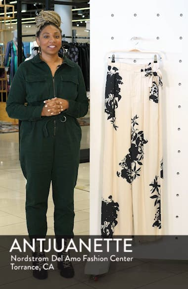 Evonne Tie Waist Silk Blend Pants, sales video thumbnail