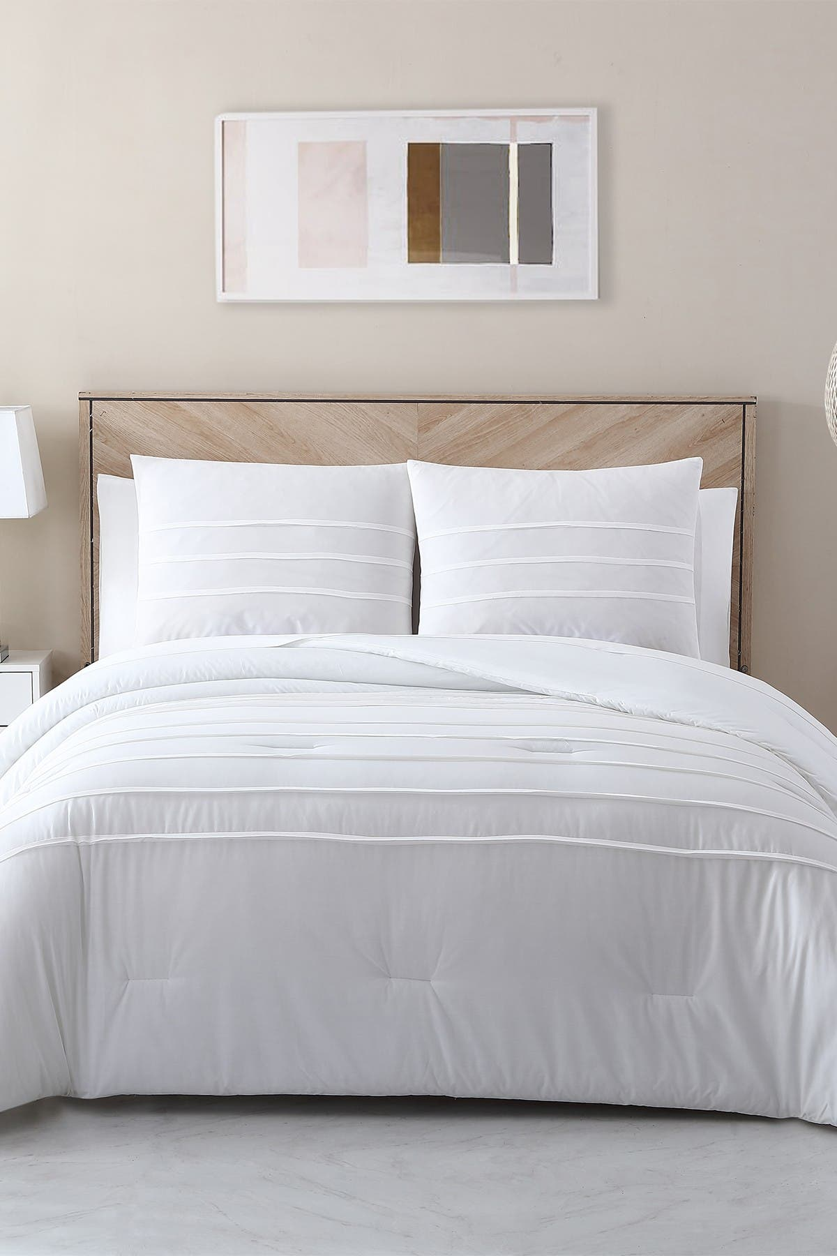 Image of VCNY HOME Avery HomeGrown Cotton Lyocell Pleated Comforter Set - Full/Queen