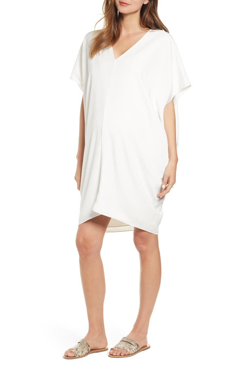 HATCH Slouch Dress, Main, color, WHITE
