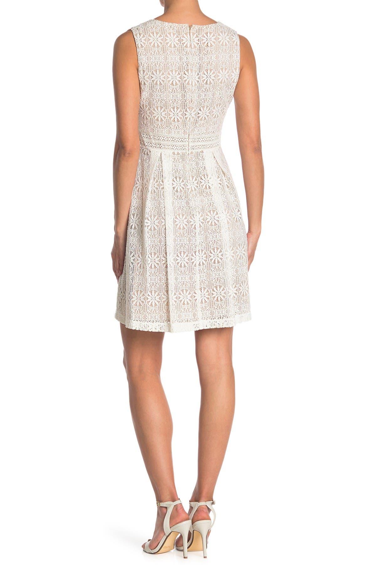 Image of Kensie V-Neck Lace Mini Dress