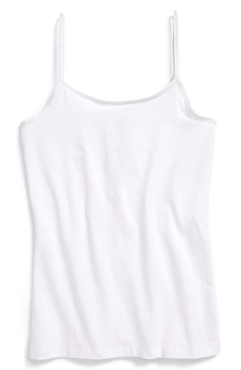 TUCKER + TATE Long Camisole, Main, color, WHITE