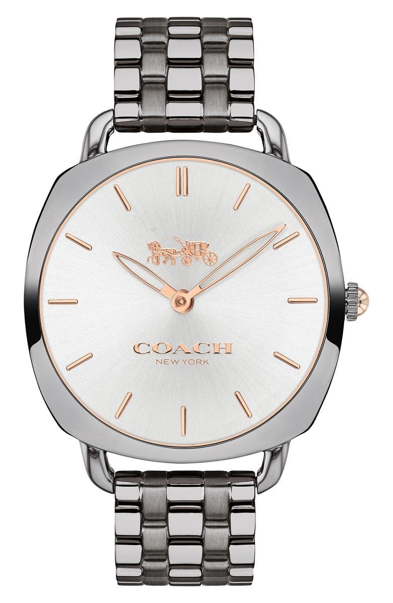 COACH Tatum Slim Bracelet Watch, 36mm, Main, color, 020