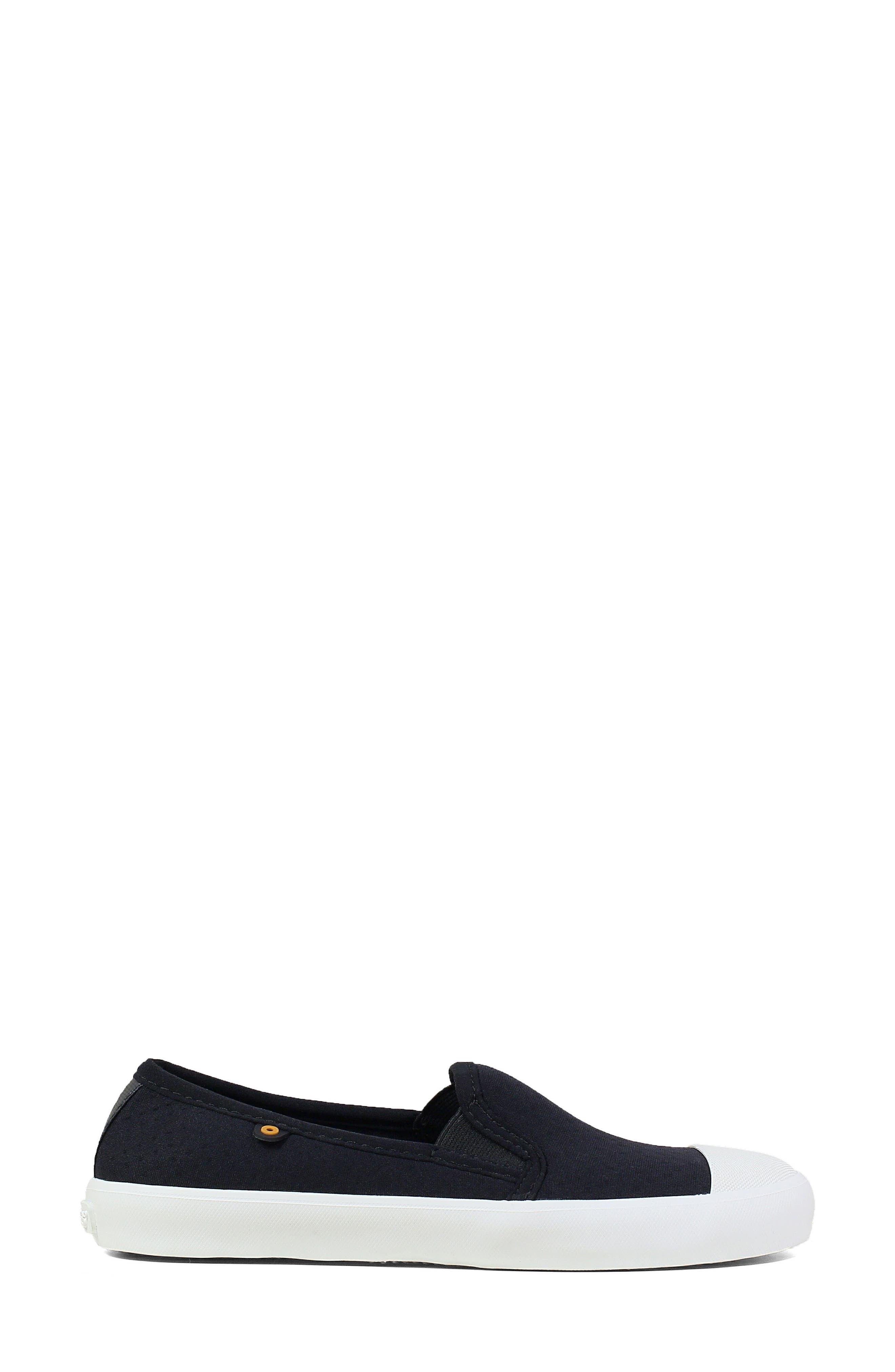 ,                             Kicker Slip-On Sneaker,                             Alternate thumbnail 3, color,                             BLACK CANVAS