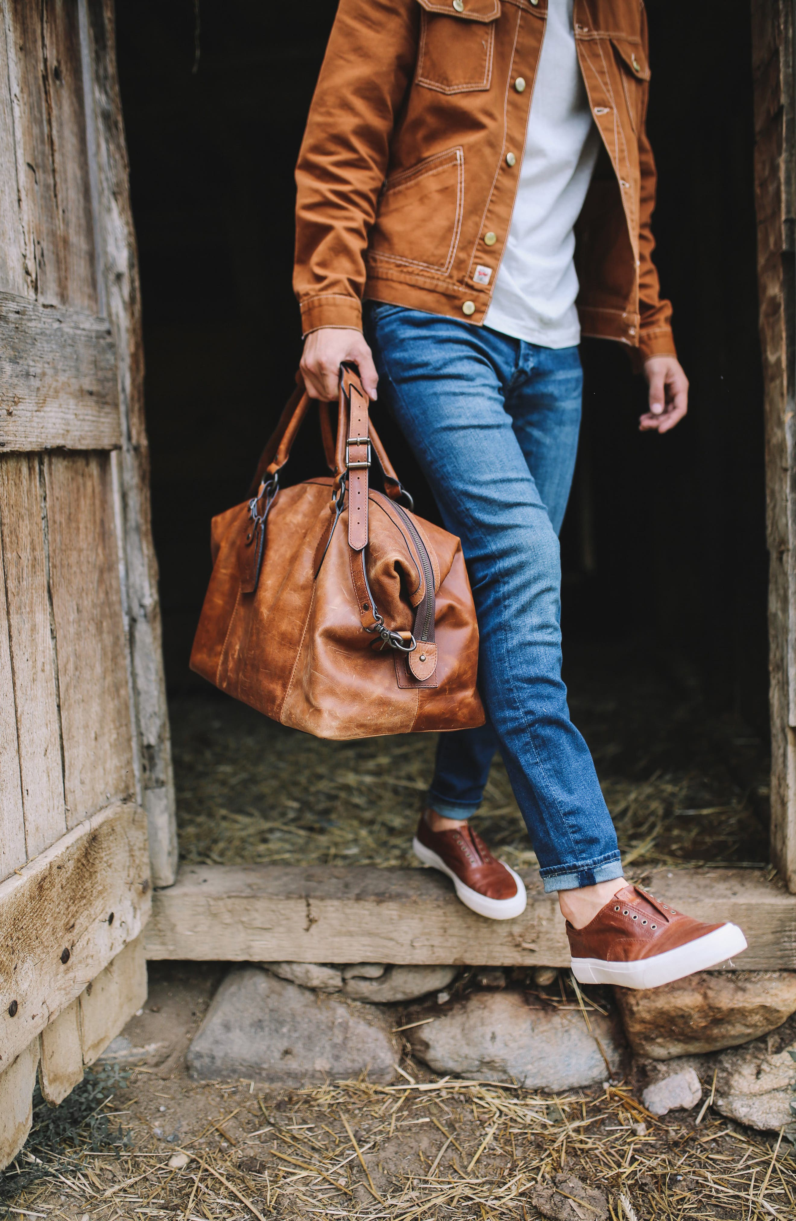 ,                             'Logan' Leather Overnight Bag,                             Alternate thumbnail 22, color,                             235