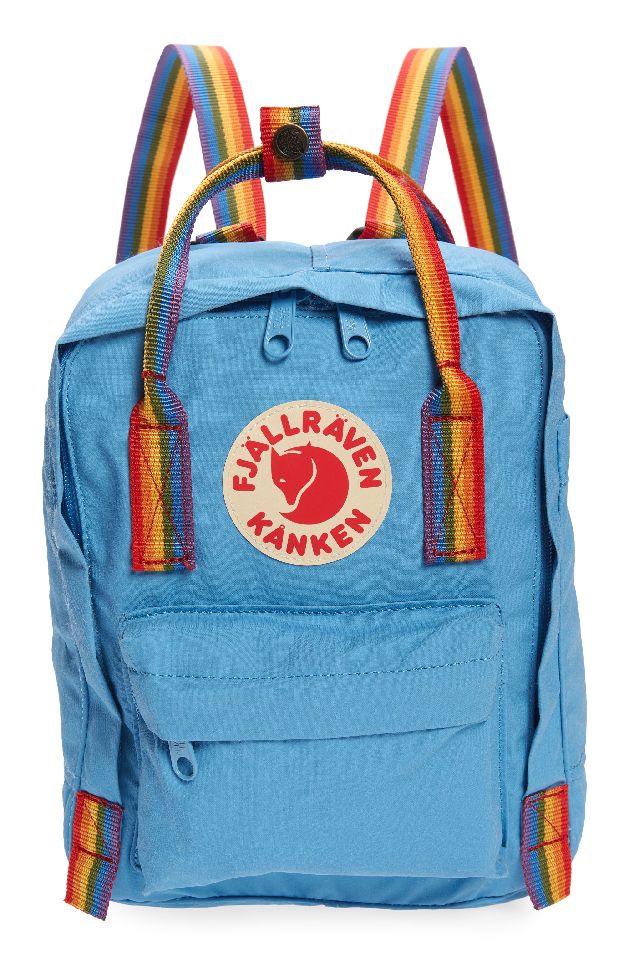 Mini Kanken Rainbow Water Resistant 13-Inch Laptop Backpack