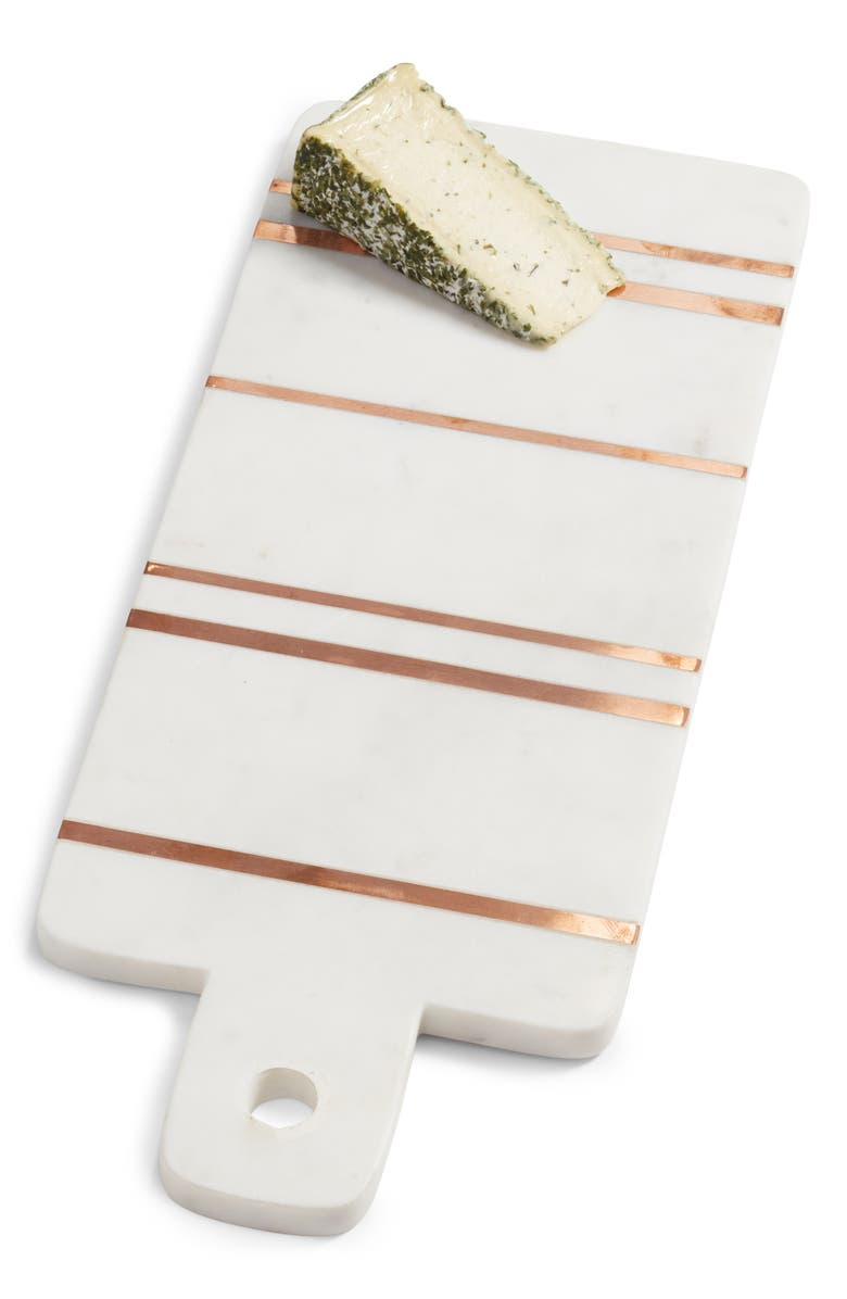 NORDSTROM at Home Brass Inlay Marble Cutting Board, Main, color, 102