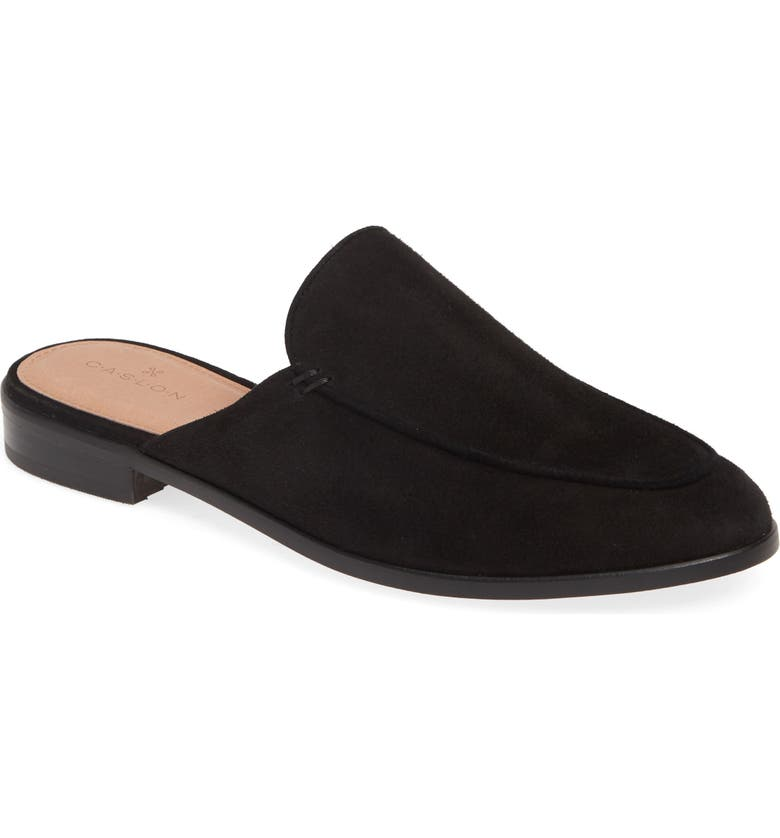CASLON<SUP>®</SUP> Evelyn Mule, Main, color, BLACK SUEDE