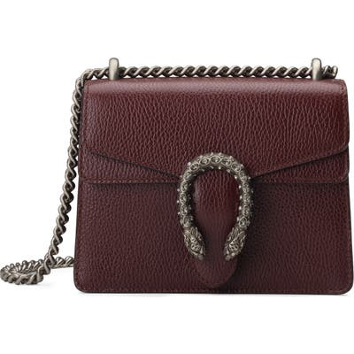 Gucci Mini Leather Shoulder Bag - Burgundy
