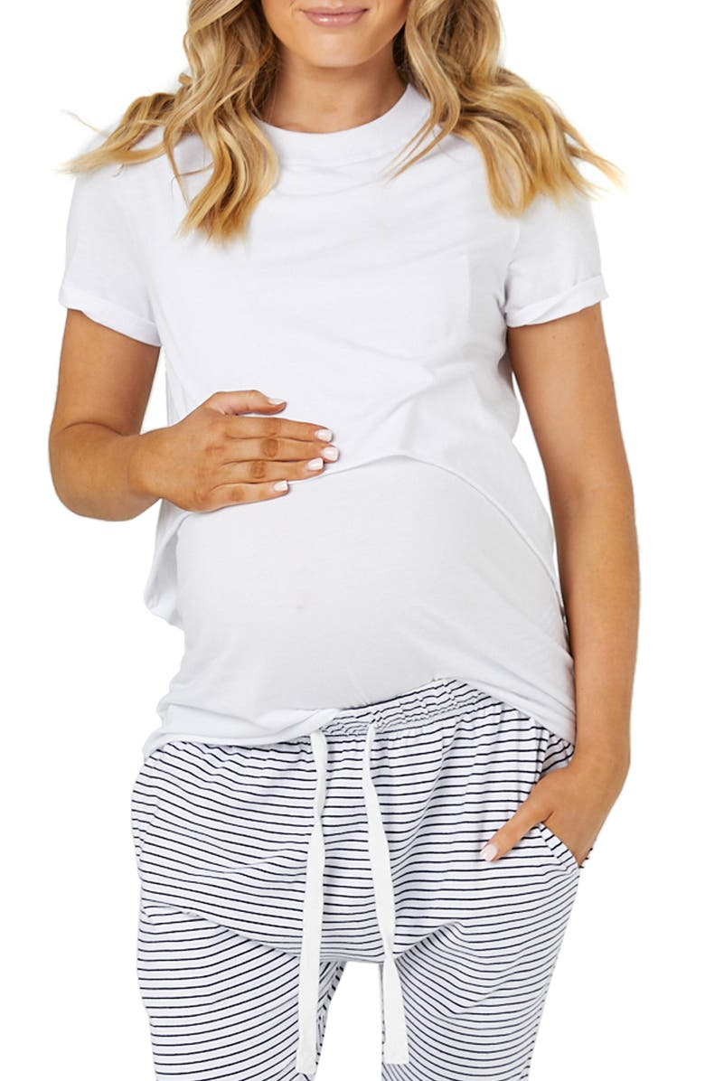LEGOE. Valance Maternity/Nursing Tee, Main, color, 100