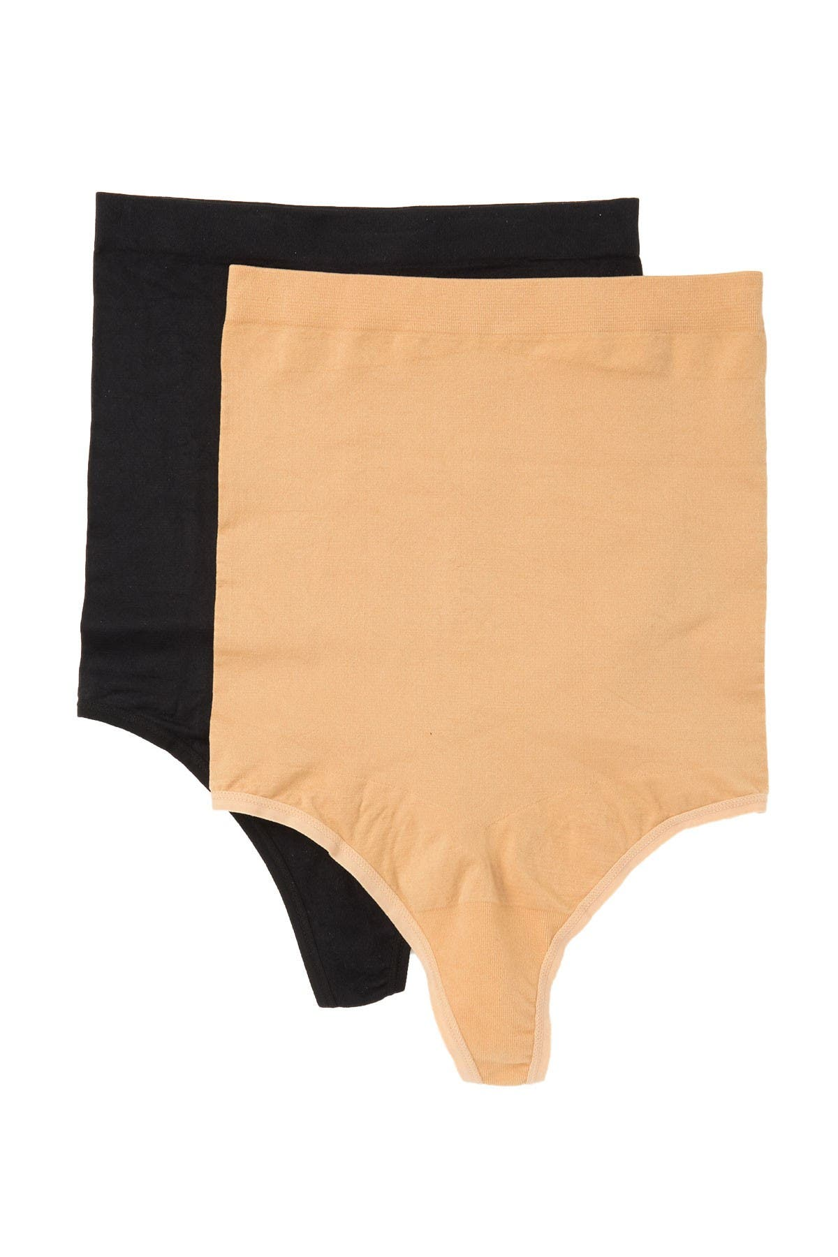 NWT $28 SKINNYGIRL 3-PACK SEAMLESS THONG PANTIES NO VPL SMOOTHERS /& SHAPERS