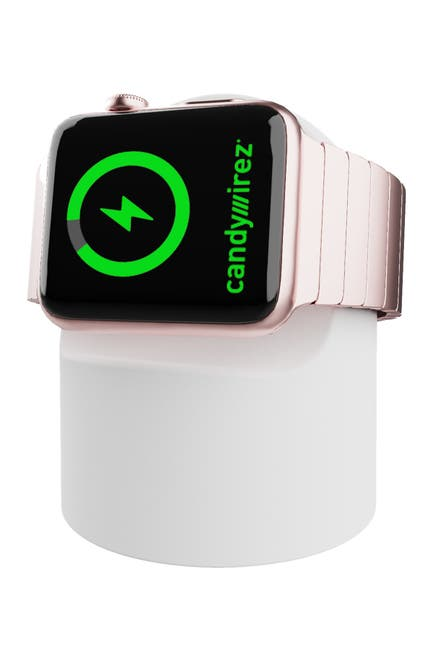 Image of CANDYWIREZ Wireless Charging Stand for Apple Watch - White