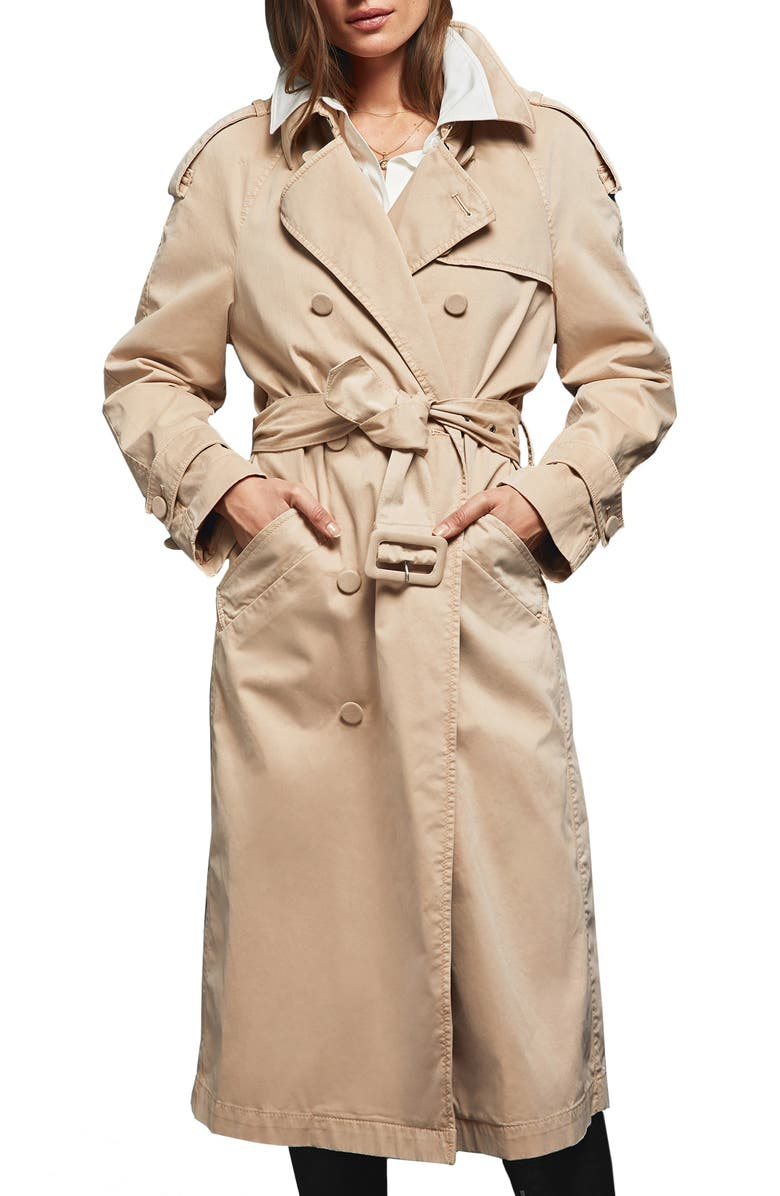 ANINE BING Stormi Water Repellent Trench Coat, Main, color, 250