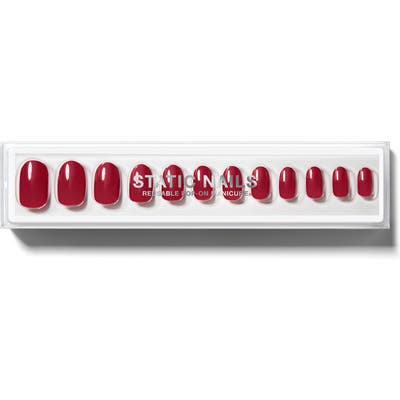 Static Nails Spiced Up Round Pop-On Reusable Manicure Set - No Color