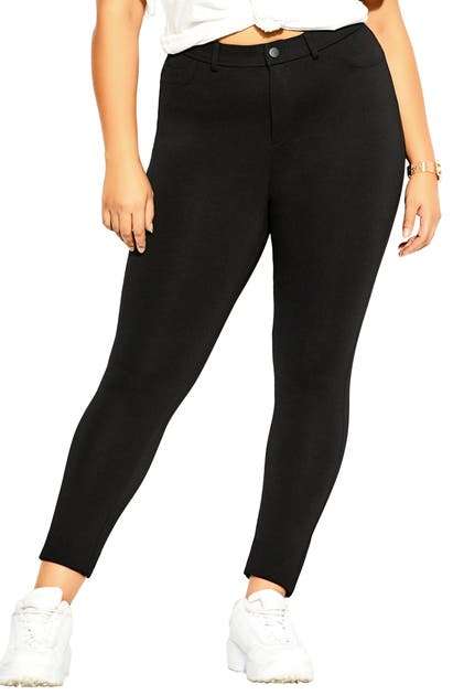 City Chic SUBTLE ANKLE LEGGINGS