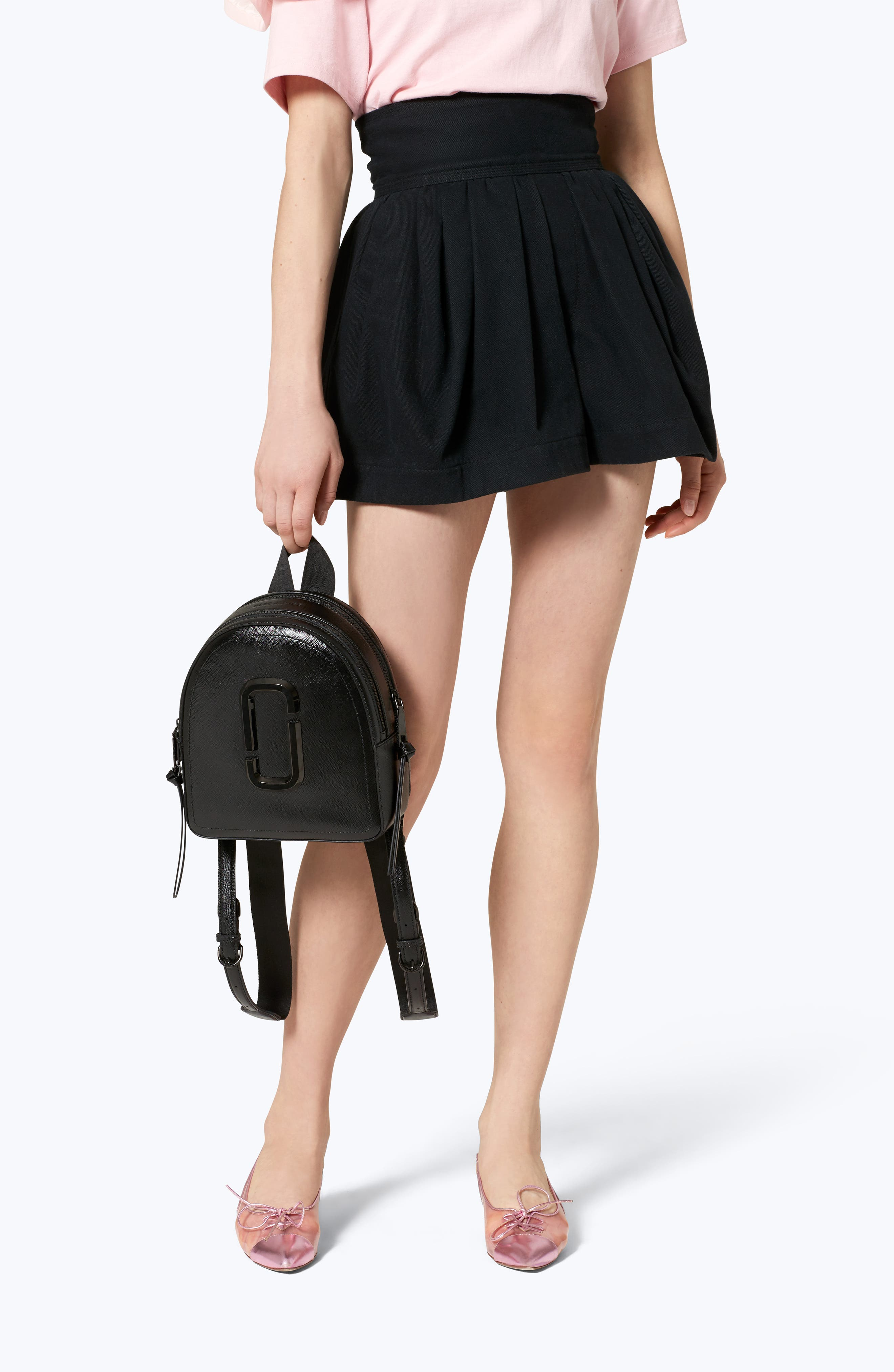 ,                             Pack Shot Leather Backpack,                             Alternate thumbnail 2, color,                             BLACK