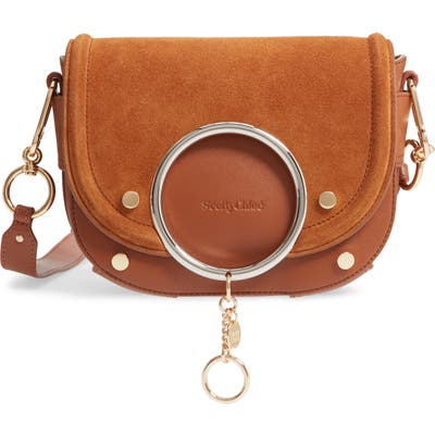 See By Chloe Mara Leather Crossbody Bag - Brown