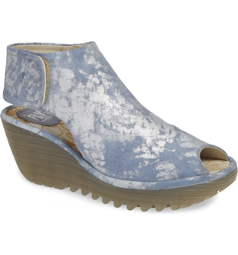 FLY LONDON Yone Sandal, Main, color, JEANS BLUE/ GREEN