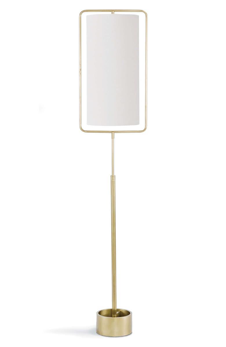 REGINA ANDREW DESIGN Geo Rectangular Floor Lamp, Main, color, NATURAL BRASS