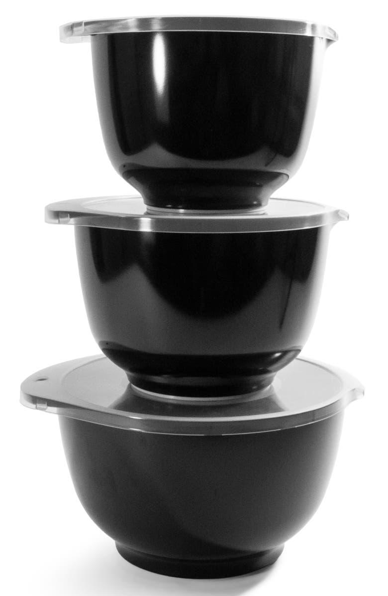ROSTI MEPAL 3-Piece Bowl & Lid Set, Main, color, BLACK