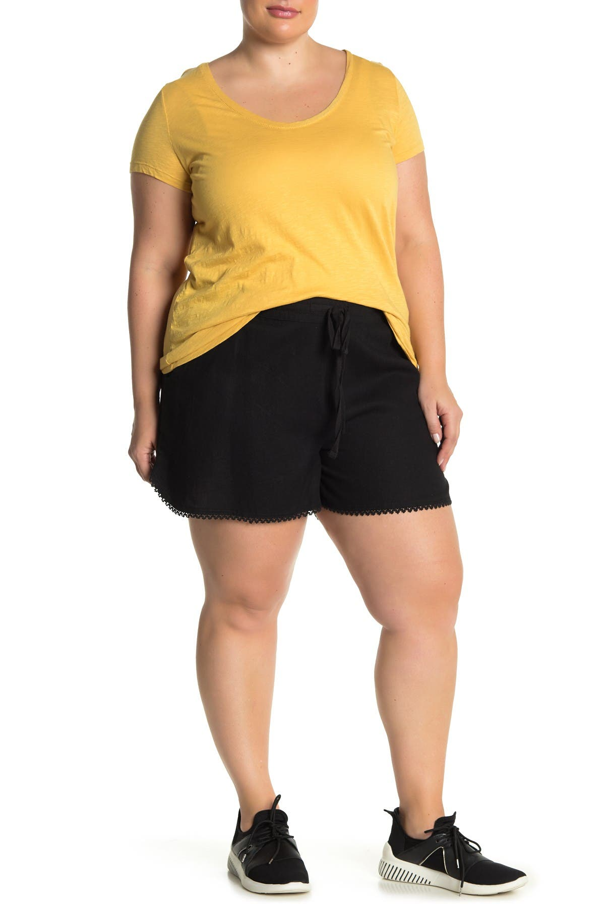 Image of Caslon Solid Linen Blend Shorts