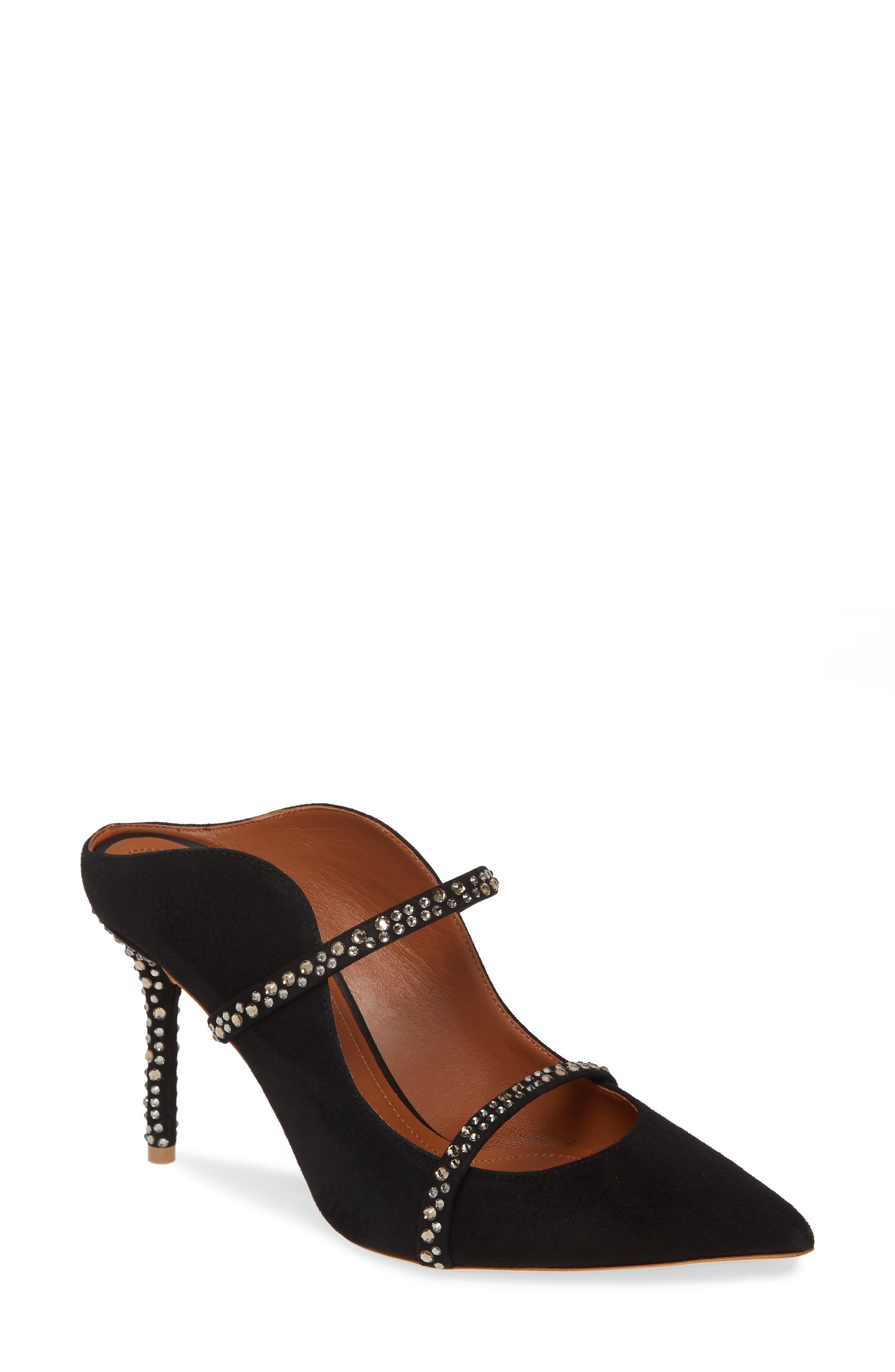 Malone Souliers Maureen Crystal Embellished Mule - Black