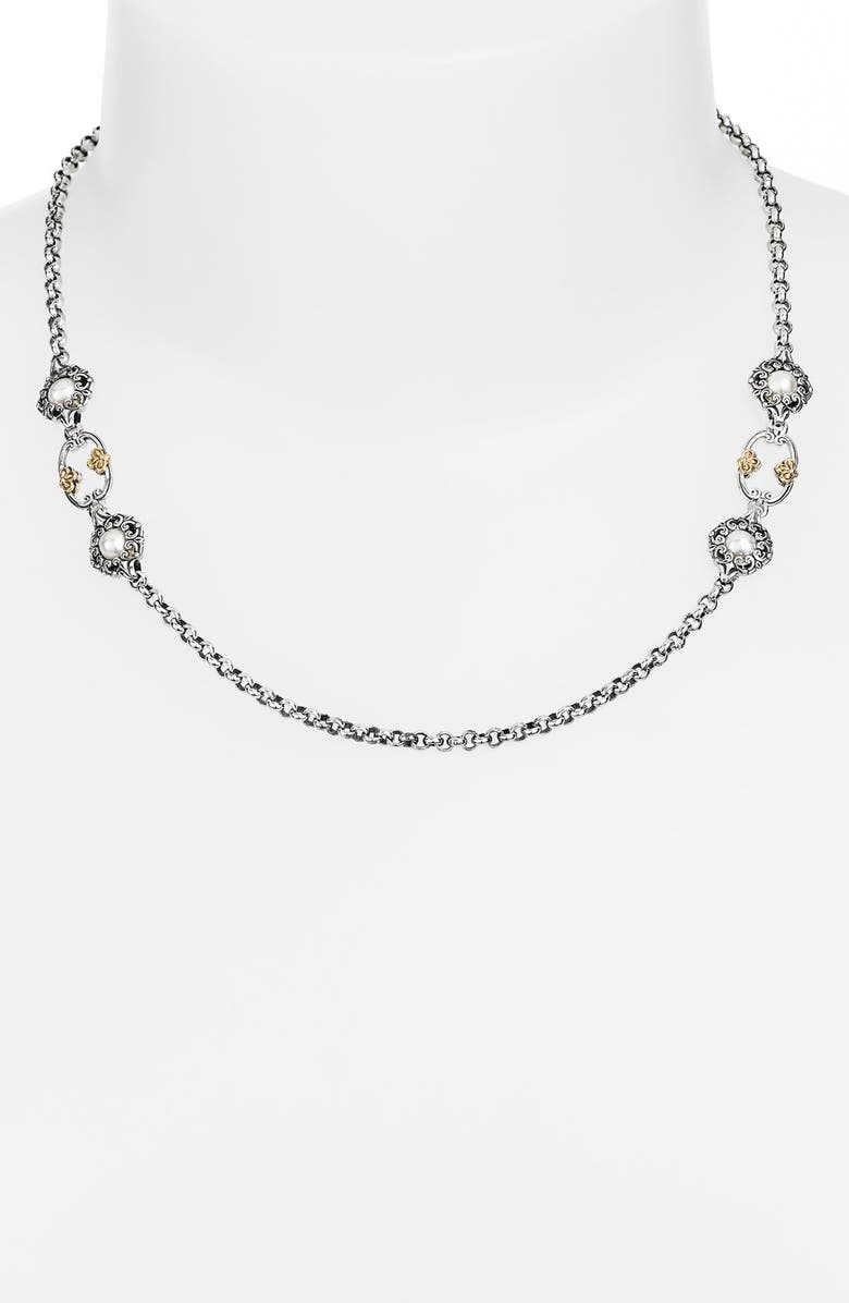 KONSTANTINO 'Selene' Station Necklace, Main, color, SILVER/ GOLD