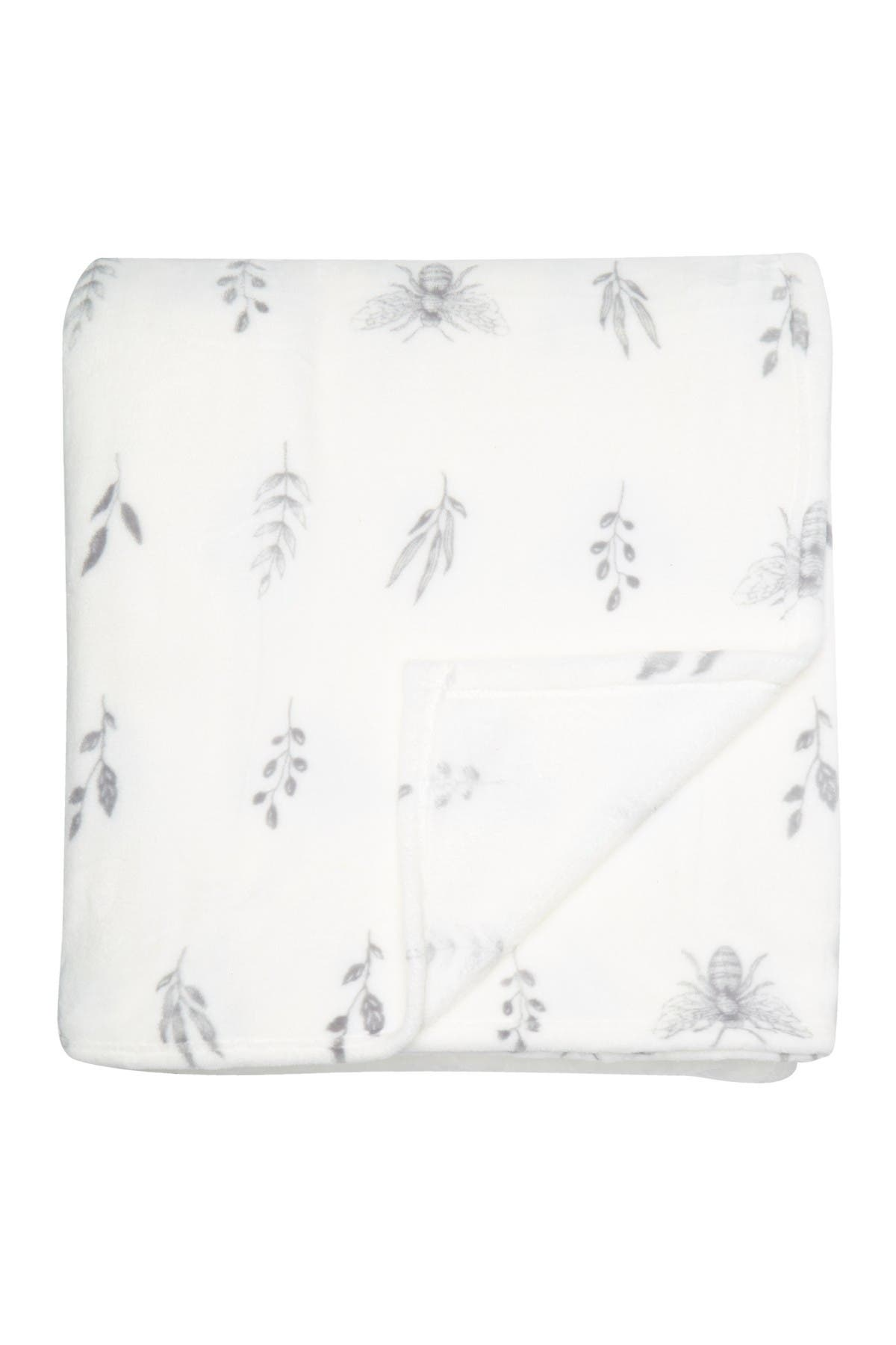 Image of S.L. HOME FASHIONS Flora & Fauna Print Blanket - King