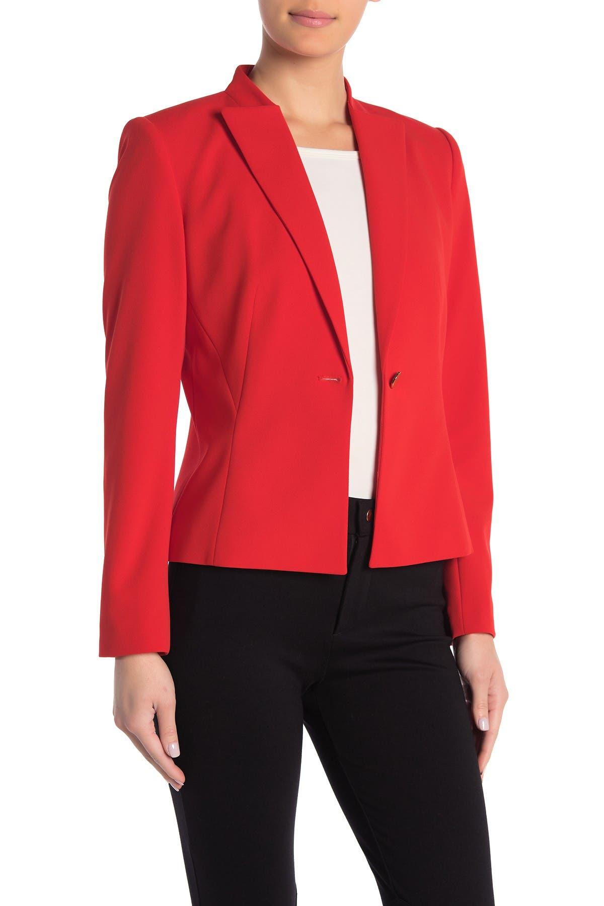 Image of Calvin Klein Crepe Single Button Jacket