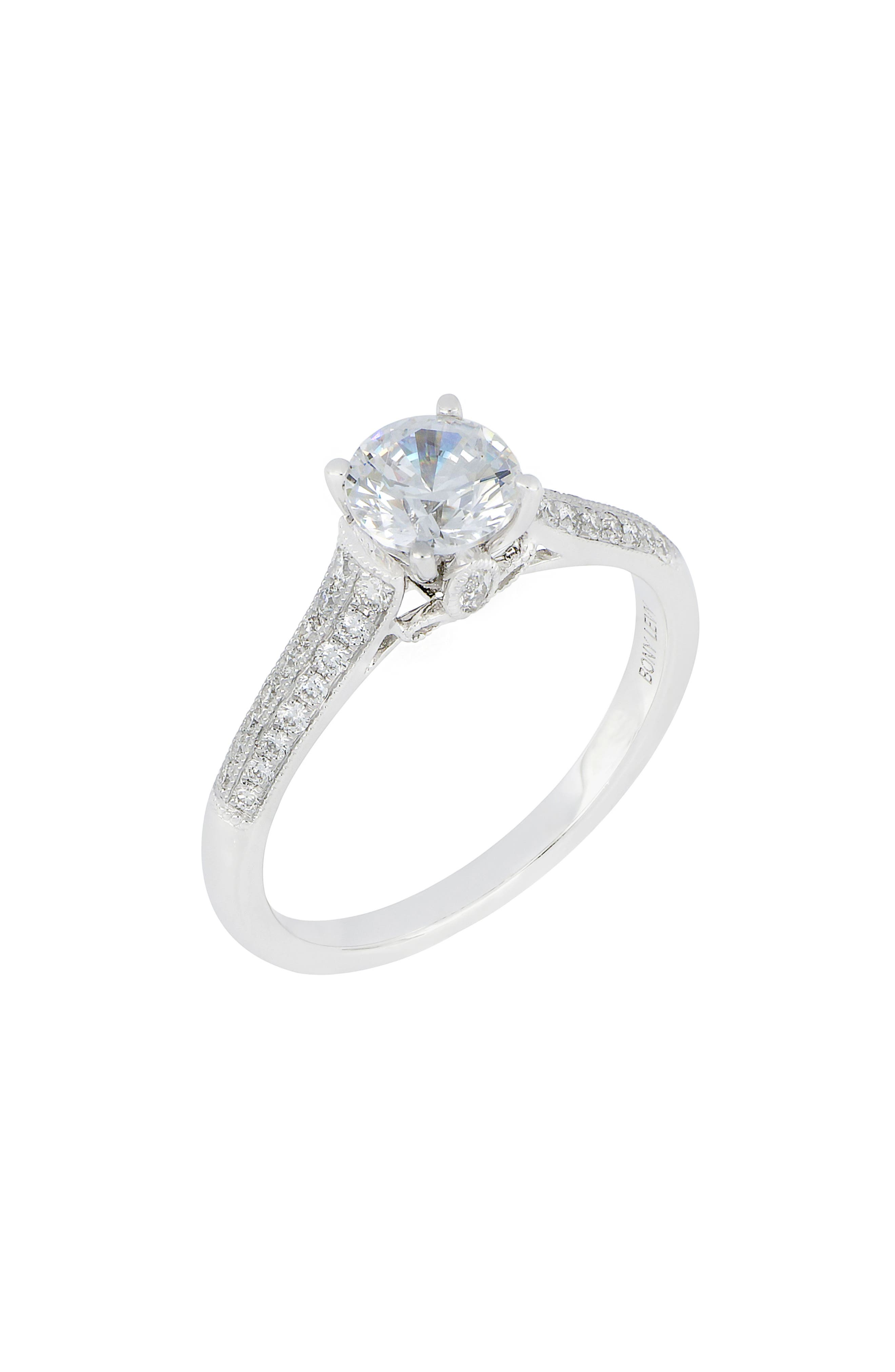 Tapered Cathedral Round Engagement Ring Setting (Nordstrom Exclusive)