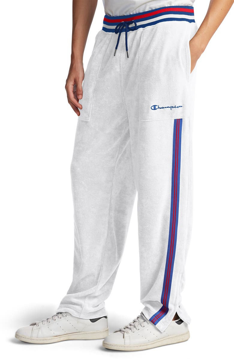 CHAMPION Terry Warm-Up Pants, Main, color, WHITE