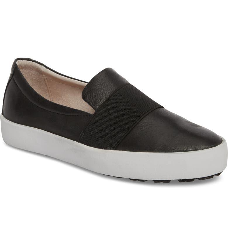 BLACKSTONE PL99 Slip-On Sneaker, Main, color, BLACK LEATHER