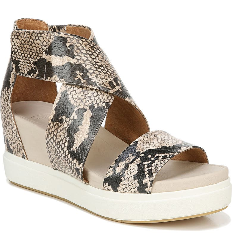 DR. SCHOLL'S Sheena Sport Sandal, Main, color, SNAKE PRINT FAUX LEATHER