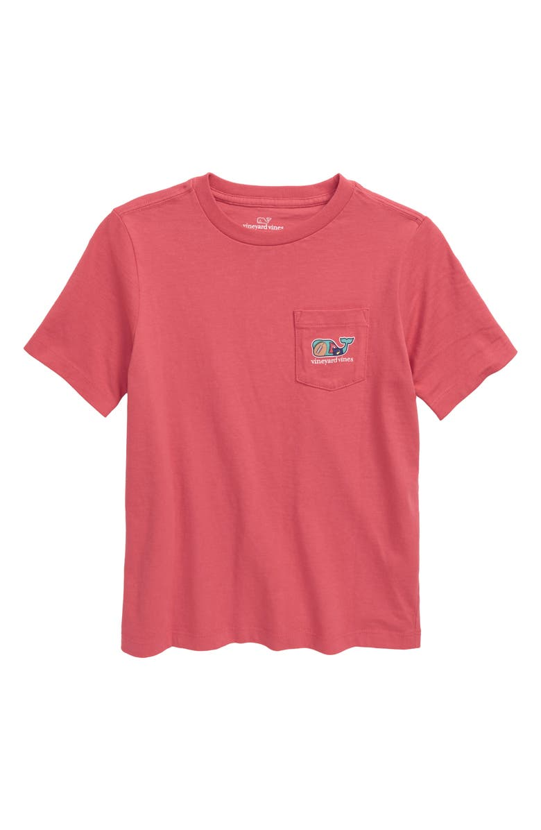 VINEYARD VINES Tailgate Whale Pocket T-Shirt, Main, color, JETTY RED